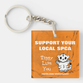 あなたのローカルSPCA Tiggy Luvsを支えて下さい キーホルダー