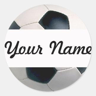 あなたの一流のサッカーボールのステッカーを加えて下さい ラウンドシール