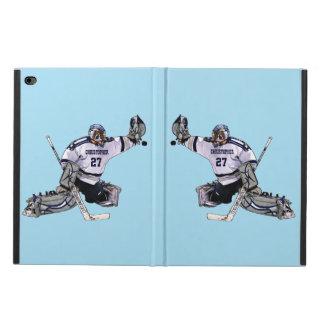 あなたの一流のスケッチを持つアイスホッケーのゴールキーパー POWIS iPad AIR 2 ケース