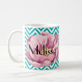 あなたの一流のピンクのケシ コーヒーマグカップ