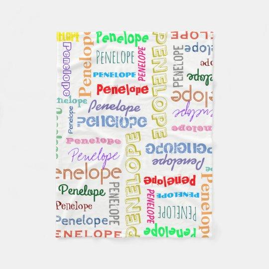 あなたの一流の単語の雲のおもしろいのフォントのタイポグラフィ フリースブランケット