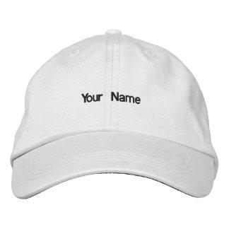 あなたの一流の帽子を加えて下さい 刺繍入りキャップ