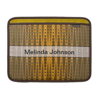 あなたの一流の黄色いカーキ色パターンを加えて下さい MacBook スリーブ