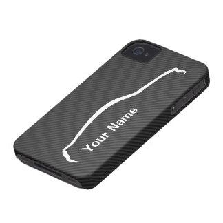 """""""あなたの一流の""""ムスタングの白いシルエットのロゴを加えて下さい Case-Mate iPhone 4 ケース"""