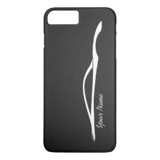 """""""あなたの一流の"""" Infiniti G37の白のシルエットを加えて下さい iPhone 8 Plus/7 Plusケース"""