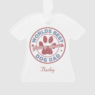 あなたの一流犬のパパのブリッタニースパニエル犬の醜いセーター オーナメント