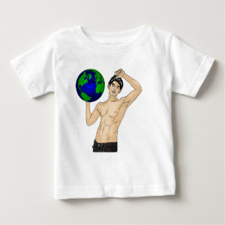 あなたの世界を握って下さい ベビーTシャツ