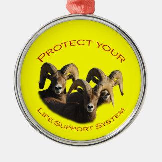 あなたの人生のサポートシステムを保護して下さい メタルオーナメント