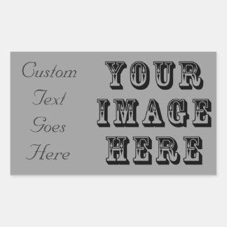 あなたの休暇の写真 長方形シール