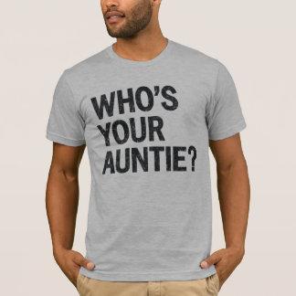あなたの伯母さんはだれですか。 おもしろTシャツ Tシャツ