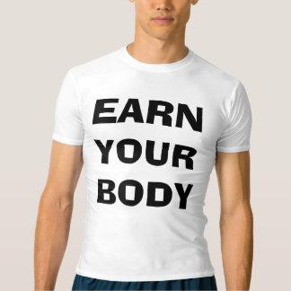 あなたの体の人の圧縮のワイシャツを得て下さい Tシャツ