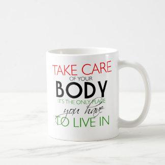あなたの体の健康なライフスタイルのマグを大事にして下さい コーヒーマグカップ