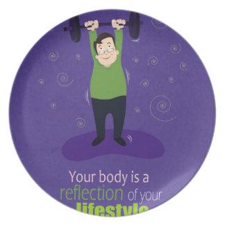 あなたの体はあなたのライフスタイルの反射です プレート