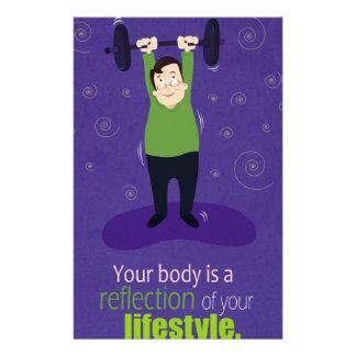 あなたの体はあなたのライフスタイルの反射です 便箋