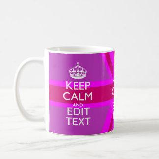 あなたの保ちます赤紫の英国国旗の穏やかな文字を得て下さい コーヒーマグカップ