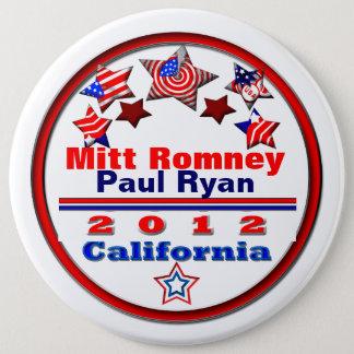 あなたの候補者カリフォルニア 15.2CM 丸型バッジ