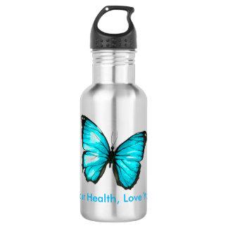 あなたの健康、愛あなた自身蝶を愛して下さい ウォーターボトル
