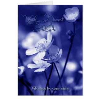 あなたの側面常にによって、悔やみや弔慰カード カード