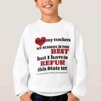 あなたの先生を支えて下さい。 あなたの学校を支えて下さい。 意図的に離れて下さい スウェットシャツ