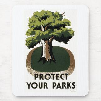 あなたの公園を保護して下さい マウスパッド