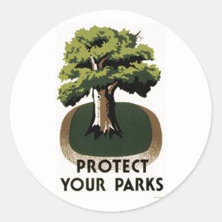 あなたの公園を保護して下さい ラウンドシール