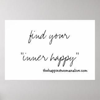 あなたの内部の幸せ見つけて下さい! ポスター
