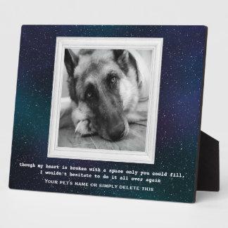 あなたの写真が付いているジャーマン・シェパードペット記念物 フォトプラーク
