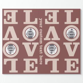 あなたの写真のカスタムな包装紙との愛 ラッピングペーパー