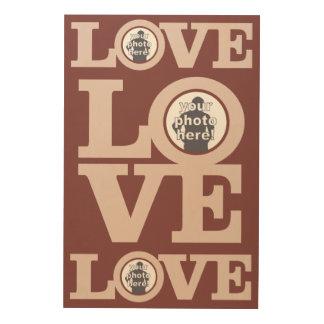 あなたの写真のカスタムな木製のキャンバスとの愛 ウッドウォールアート