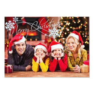 あなたの写真のクリスマスカードを加えて下さい カード