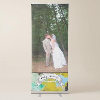 あなたの写真の結婚式の抽象芸術の水彩画のデザイン 伸縮バナー