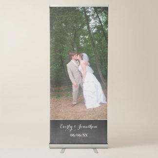 あなたの写真の結婚式の旗 伸縮バナー