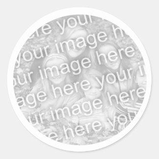 あなたの写真を加えて下さい ラウンドシール