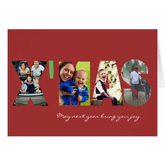 あなたの写真X'mas グリーティングカード