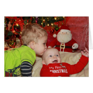 あなたの初めてのクリスマスのように感じます! カード