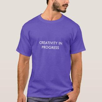 あなたの創造性の考え方を展示するシンプルなワイシャツ Tシャツ