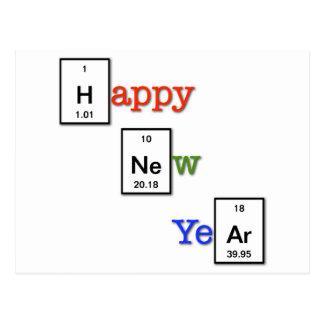 あなたの化学者の友人への明けましておめでとう ポストカード