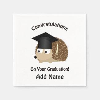 あなたの卒業のハリネズミのお祝い スタンダードカクテルナプキン