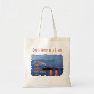 あなたの単語はライト賛美歌の119:105の聖書の詩です トートバッグ