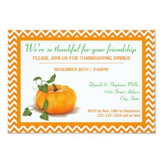 あなたの友情- 3x5夕食の招待のために感謝している 8.9 x 12.7 インビテーションカード