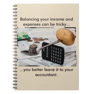 """""""あなたの収入および費用のバランスをとることはこうかつ""""である場合もあります ノートブック"""