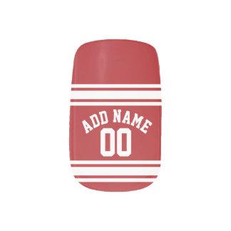 あなたの名前および数を用いるスポーツジャージー ネイルアート