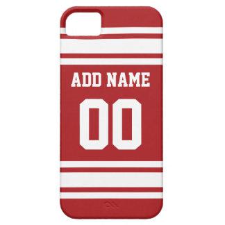 あなたの名前および数を用いるスポーツジャージー iPhone SE/5/5s ケース