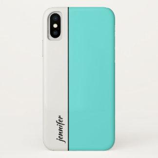 あなたの名前のお洒落なスタイル色のブロック iPhone X ケース