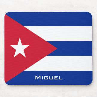 あなたの名前のキューバの国旗 マウスパッド