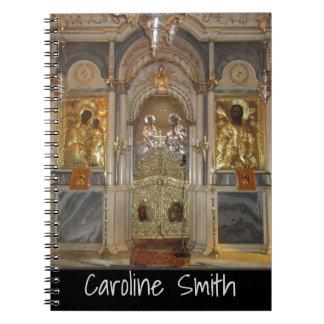 あなたの名前のギリシャ正教会のイコノスタシス ノートブック