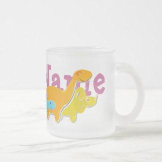 あなたの名前の個人的な恐竜のマグ フロストグラスマグカップ