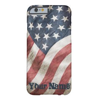 あなたの名前の米国の旗のヴィンテージのレトロの古い栄光 iPhone 6 ベアリーゼアケース
