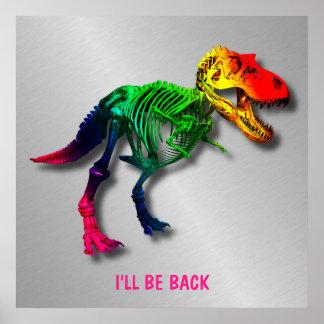 あなたの名前の虹Tのレックスのおもしろいな化石 ポスター