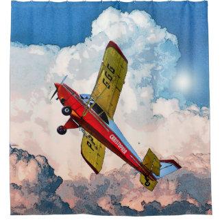 あなたの名前の赤く青く黄色く個人的な航空機 シャワーカーテン